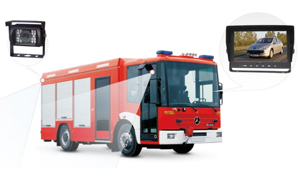 Monitoring system for fire engine