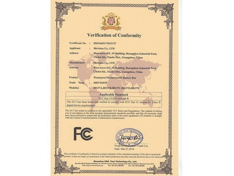Verification of Conformity
