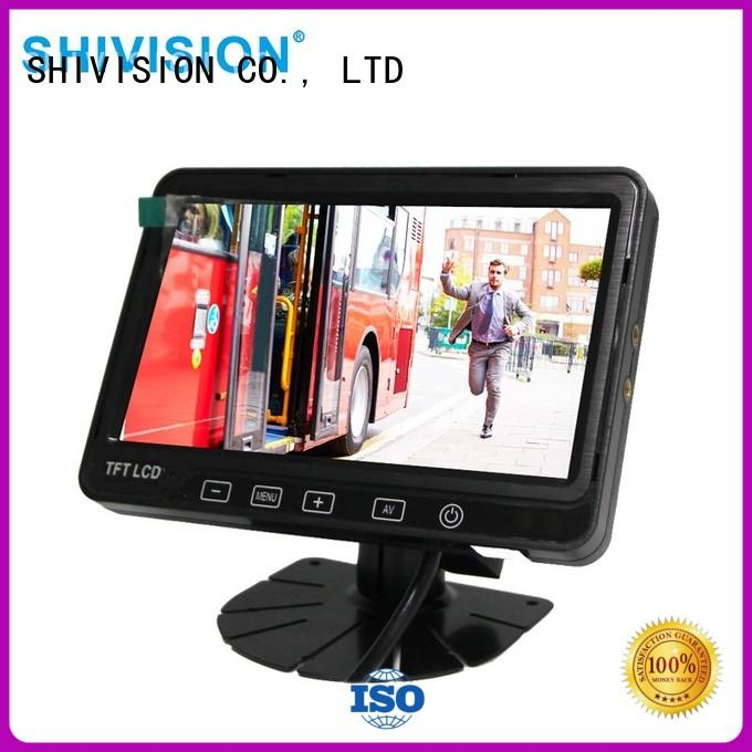 Shivision quality rear view monitor certifications for fire truck