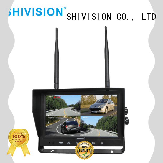 Shivision car monitor with camera with certification for fire truck