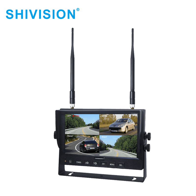 SHIVISION-M02084ch-7 inch car monitor-2.4G Digital Wireless Monitor