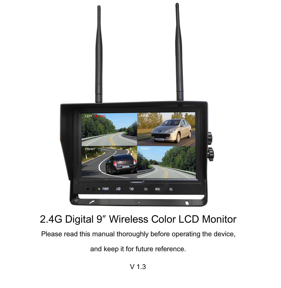 [Operating Instructions]2.4G Digital 9″ Wireless Color LCD Monitor