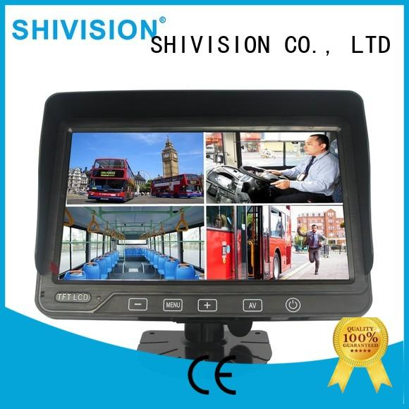 Shivision hd rear view monitor system with certification for fire truck