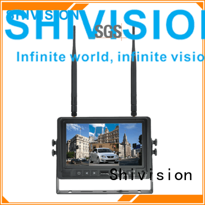 SHIVISION-M02074ch-7 inch car monitor-2.4G Digital Wireless Monitor
