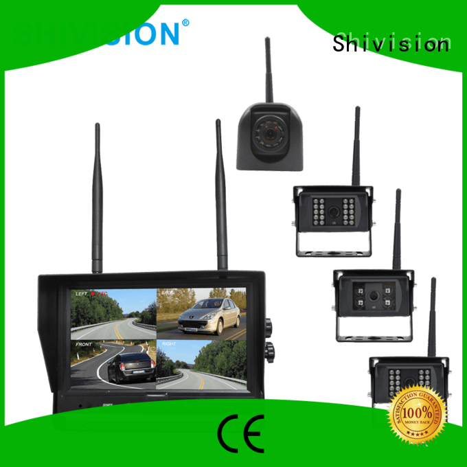 wireless wireless surveillance system with quad view monitor digital for trunk Shivision