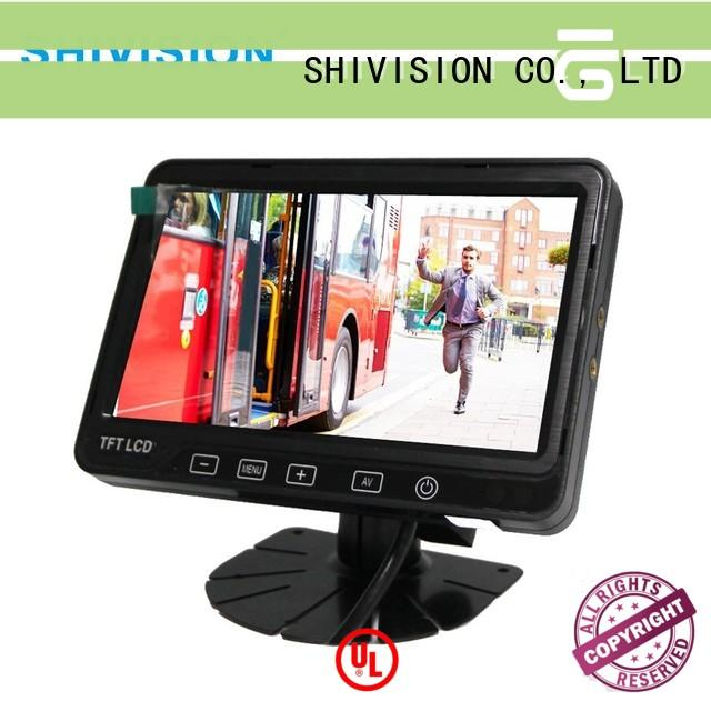 Shivision quality rear view mirror monitor with backup camera with certification for bus