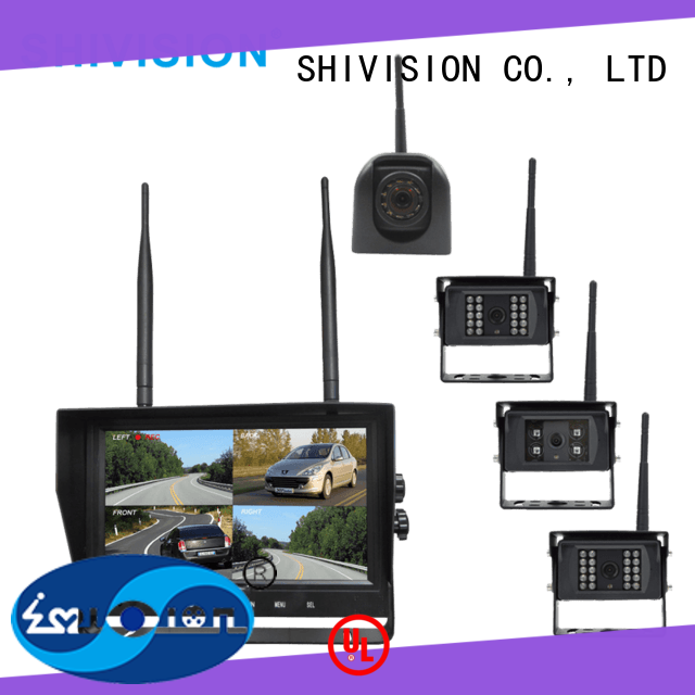 Shivision new-arrival wireless surveillance cameras with quad view monitor factory price for fire truck