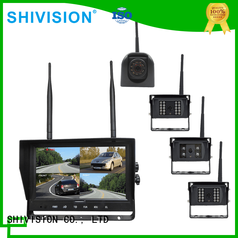 cordless camera with quad view monitor system 24Ghz wireless Shivision Brand